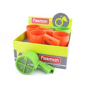 Кружка-сито кухонне пластикове для борошна Fissman 10х9 см