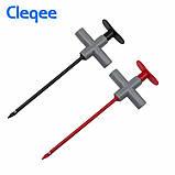 Cleqee P5010 2шт щупы с иглой с прокалыванием проводов  крюк тестер для мультиметра авто диагностики 10A/1000V, фото 4