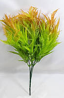 """Персиково-помаранчевий букет латаття"""" 33см штучний кущ зелені, фото 1"""