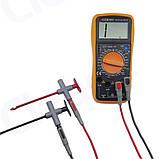 Cleqee P5010 2шт щупы с иглой с прокалыванием проводов  крюк тестер для мультиметра авто диагностики 10A/1000V, фото 2