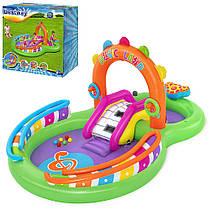 Детский надувной игровой центр BESTWAY Музыкальная арена 53117 с 6 шариками