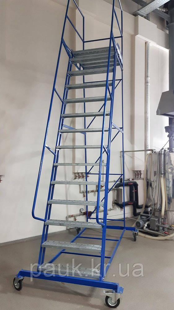 Складская лестница платформенная Н 3500 мм Б/У