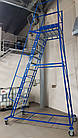 Складська драбина платформова Н 3500 мм Б/У, фото 2