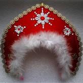 Кокошник снегурочки (красный)