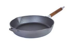 Сковорідка зі зйомною ручкою і кришкою чавунна Біол 24 см 12241