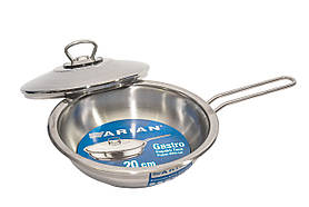 Сковорода из нержавеющей стали с крышкой Arian Gastro 26 см 4TVDGR0026001