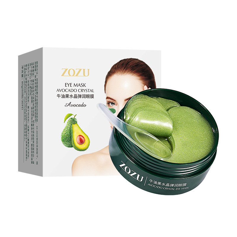 Гидрогелевые патчи с экстрактом авокадо Zozu Shea Crystal Repair Eye Mask, 80г/60шт