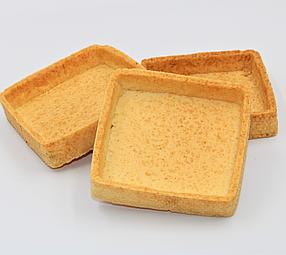 Тарти напівфабрикат квадратні 56 шт в коробці