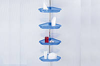 Полка для ванной PrimaNova N17-23 Голубой