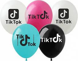 """Латексные воздушные шары Tik Tok разноцветные 12"""" (30 см) 10 шт"""