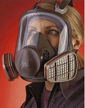 Полно лицевая панорамная маска 3М 6800 серии 6000 размер м