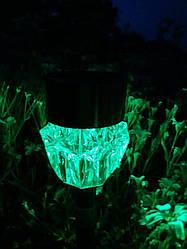 Садово-парковый светильник на солнечной батарее Lemanso CAB129 белый + цветной