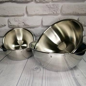 Набор кухонных мисок WMF Gourmet 4 предмета, нержавеющая сталь Cromargan 18/10, 0,75 л - 2,75 л