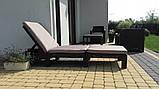 Шезлонг лежак Allibert by Keter Daytona Sunlounger Brown ( коричневый ) искусственный ротанг, фото 5