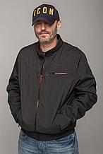 Молодіжна чоловіча куртка-вітрівка з поясом Miorichi, колір графіт