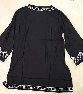 Туника пляжная в этническом стиле черная, фото 2