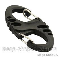 Карабин пластиковый для ключей 50 мм. Надежный двухсторонний карабин. Карабін багатофункціональний для ключів