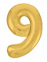 Гелієва цифра 100 см золото №9