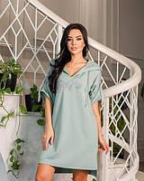 Женское летнее платье-туника норма и батал новинка 2021
