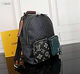 Рюкзак Луи Витон, кожаная реплика, фото 3