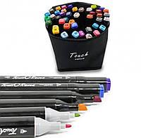 Набір скетч маркерів Touchnew 48 кольорів для малювання, Фломастери двосторонні тач Sketchmarker Touch Art