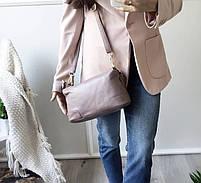 Женская кожаная сумка. Сумочка женская из натуральной кожи, сумка для девушек на каждый день, фото 5