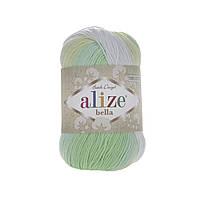 Alize Bella Batik 100 (Алізе Білого Батік 100) № 2131 (Пряжа бавовна, нитки для в'язання)