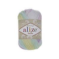 Alize Bella Batik 100 (Ализе Бела Батик 100) № 2132 (Пряжа хлопок, нитки для вязания)