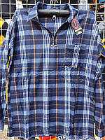 Рубашка теплая мужская на змейке фланель 54-56