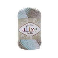 Alize Bella Batik 100 (Алізе Білого Батік 100) № 3675 (Пряжа бавовна, нитки для в'язання)