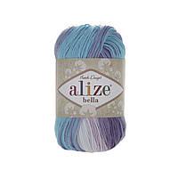 Alize Bella Batik 100 (Алізе Білого Батік 100) № 3677 (Пряжа бавовна, нитки для в'язання)