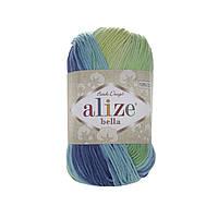 Alize Bella Batik 100 (Алізе Білого Батік 100) № 4150 (Пряжа бавовна, нитки для в'язання)