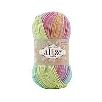 Alize Bella Batik 100 (Алізе Білого Батік 100) № 4151 (Пряжа бавовна, нитки для в'язання)