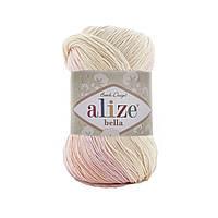 Alize Bella Batik 100 (Алізе Білого Батік 100) № 7630 (Пряжа бавовна, нитки для в'язання)