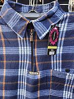 Сорочка тепла чоловіча на змійці фланель, фото 1