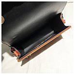 Женская бежевая сумка на широком тканевом ремешке на плечо, фото 3