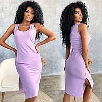 Летнее женское платье в рубчик , красивое яркое платье , женское летнее платье размеры 42-44 , 44-46 , 46-48
