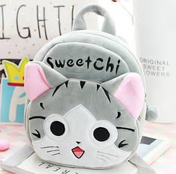 Мягкий плюшевый рюкзачек Кошечка для девочки 1-3 года
