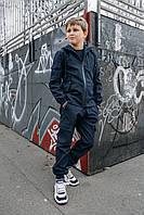 Дитячий синій комплект для хлопчика демісезонний, дитяча вітровка з капюшоном та штани Easy softshell, фото 1