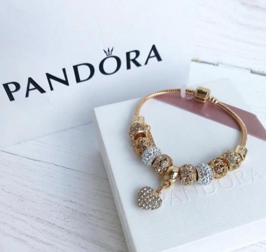 Браслет c шармами Pandora копія пандора Відмінна якість