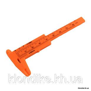 Штангенциркуль Пластиковый, для измерений, 10.5х4.4х0.5 см, Цвет: Оранжевый (1 шт)