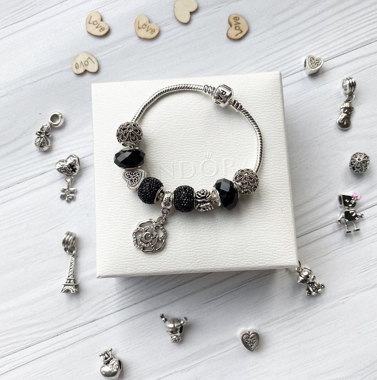 Pandora браслет с шармами ( стильный браслет пандора )     розница