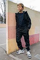 Детские спортивные штаны черные для мальчика, брюки на мальчика Easy softshell