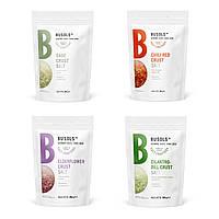 BUSOLS - Набор из 4-х видов соли на основе свежих трав (4 х 700 грамм) - Профессиональная кулинарная соль