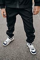Детские штаны для мальчика черные, спортивные брюки на мальчика Easy softshell