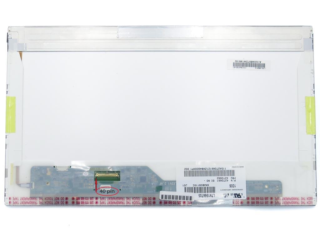Матрица для ноутбука 15.6 Normal (1366*768, 40pin слева) Samsung LTN156AT05 Глянцевая.