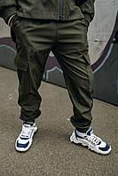 Спортивные детские штаны хаки для мальчика, брюки на мальчика Easy softshell