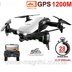 Квадрокоптер Monster dron F8 2-х осевая стабилизация Дрон GPS WiFi FPV с 27 минут полета с камерой 4K