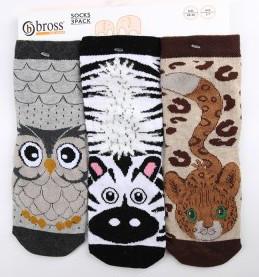 Дитячі шкарпетки з бавовни з малюнком Bross
