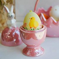 """Подставка с крышкой для яйца (пашотница) """"Пасхальный кролик"""" 16 см (керамика), фото 1"""